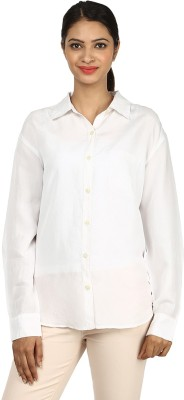 Charisma Women's Solid Formal White Shirt