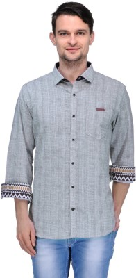 Canary London Men's Solid Casual Brown Shirt