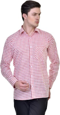 Comfortline Men's Checkered Casual Red Shirt