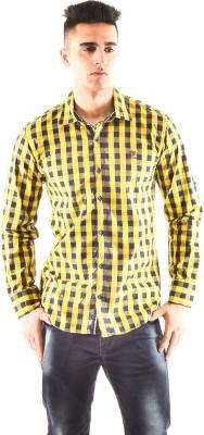 Hip Way Men's Checkered Casual Multicolor Shirt