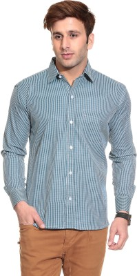 Stylistry Men's Checkered Casual Green Shirt
