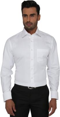 Greenfibre Men's Solid Formal White Shirt