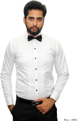 Beetle Men,s Solid Party White Shirt