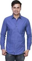 El Figo Formal Shirts (Men's) - EL FIGO Men's Solid Formal Dark Blue Shirt