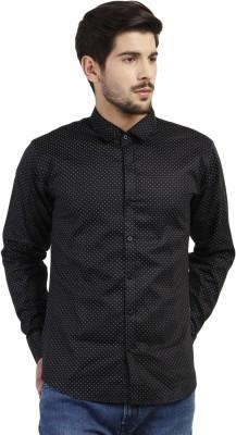 Marcello And Ferri Men's Printed Casual Black Shirt