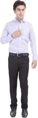 Riwas Collection Men,s Striped Formal Blue, Purple Shirt