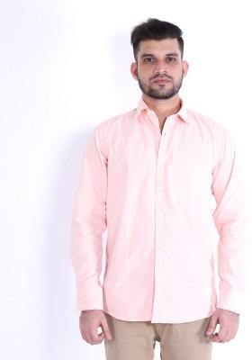 RJ MODA Men's Solid Formal Orange Shirt