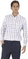 Silkina Formal Shirts (Men's) - Silkina Men's Checkered Formal White, Red Shirt