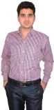 Culture Plus Men's Checkered Formal Pink...