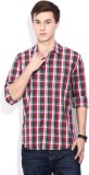 Lee Men's Checkered Casual Maroon Shirt