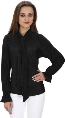 Svt Ada Collections Women's Solid Party Black Shirt