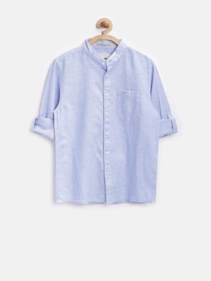 Pepe Jeans Boy's Striped Casual Blue Shirt