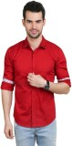 Big Tree Men's Solid Casual Red Shirt
