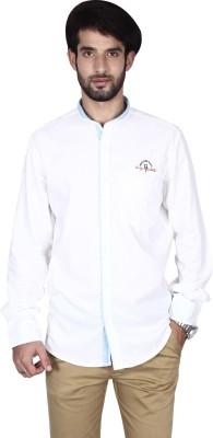 Brecken Paul Men's Solid Casual White Shirt