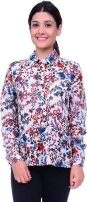 Lamora Women's Floral Print Casual Multicolor Shirt