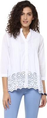 Bhane Women's Embellished Casual White Shirt