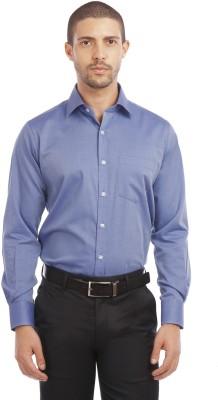 Leo Men's Solid Formal Dark Blue Shirt