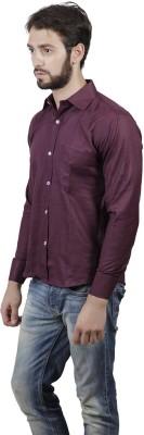 FDS Men's Solid Formal Purple Shirt