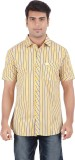 Anytime Men's Striped Casual Yellow, Gre...