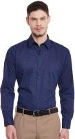 Hancock Formal Shirts (Men's) - Hancock Men's Printed Formal Dark Blue Shirt