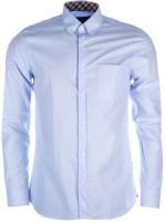 Aquascutum Formal Shirts (Men's) - Aquascutum Men's Solid Formal Blue Shirt