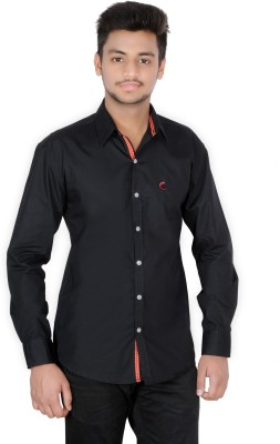 Jevis Men's Solid Casual Black Shirt