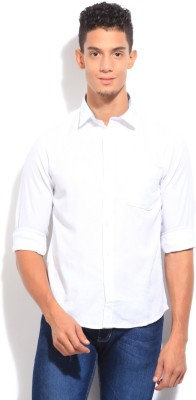 Pepe Jeans Men's Self Design Casual White Shirt