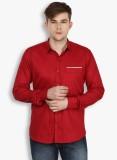 Stylox Men's Solid Casual Maroon Shirt
