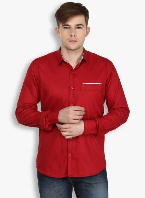 Stylox Men,s Solid Casual Maroon Shirt