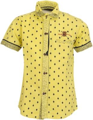 Font Kids Boy's Printed Casual Yellow Shirt