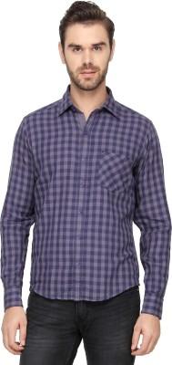 Cross Creek Men's Checkered Casual Grey Shirt