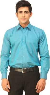 Seven Days Men's Solid Formal Blue Shirt
