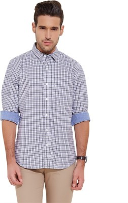 Urban Nomad By INMARK Men's Checkered Casual Dark Blue, Blue Shirt