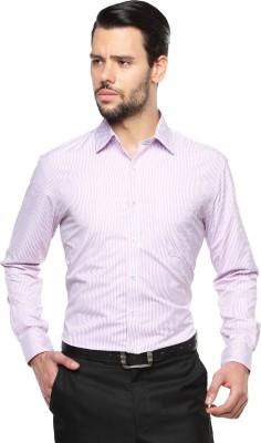 British Club Men's Striped Formal Pink, White Shirt