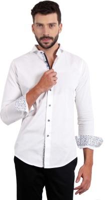 SOLEMIO Men's Solid Casual White Shirt
