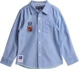 XnY Boys Solid Casual Blue Shirt