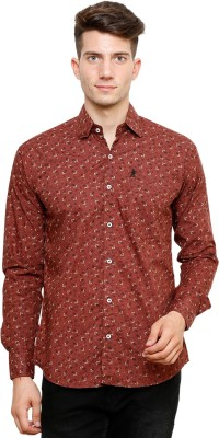 Ebry Men's Paisley Casual Maroon Shirt