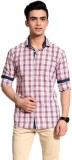 Cotton Crus Men's Checkered Casual Red S...
