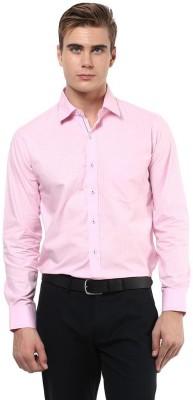 The Vanca Men's Solid Formal Pink Shirt