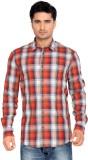 Thinc Men's Checkered Casual Red Shirt