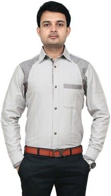 URCHOIXCOLLECTION Men's Solid Casual Brown Shirt