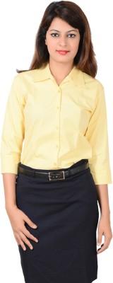 LGC Women's Solid Formal Yellow Shirt