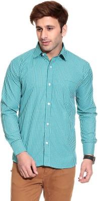Pede Milan Men's Checkered Casual Green Shirt