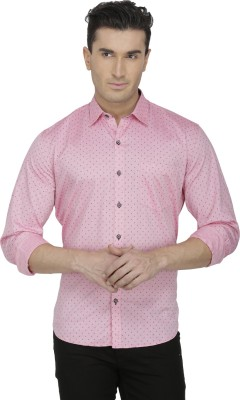 Spaky Men's Printed Casual Pink Shirt