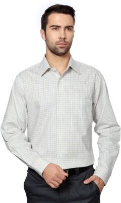 Allen Solly Men,s Checkered Formal Yellow Shirt