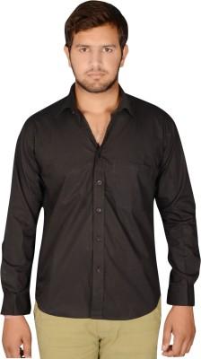 Drishtee Men's Solid Casual Black Shirt