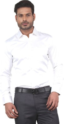 Tabard Men's Solid Casual White Shirt