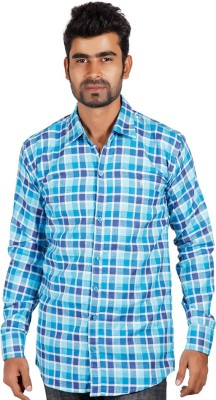 Alley Brothers Men's Checkered Casual Multicolor Shirt