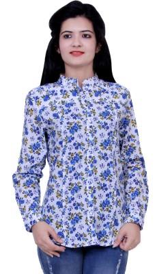 Paris Plush Women's Floral Print Casual Multicolor Shirt