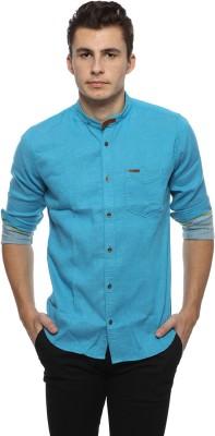 Derby Jeans Community Men's Solid Casual Blue Shirt